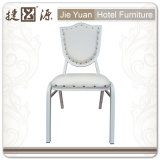 White Stackable Aluminum Restaurant Cafe Chair (JY-L43)