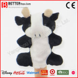 Stuffed Plush Animal Cow Finger Puppet for Baby Kids