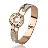 Beautiful Women Jewelry Fashion Watch Shaped Diamond Bracelet Bangle