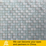 White Glass Mosaic with Stone