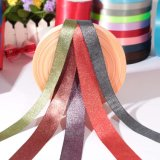 Polyester Colorful Gold Satin Ribbon for Garment Accessory