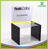Acrylic Suggestion Box, Perspex Brochure Display with Box