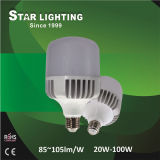 100W High Power LED Bulb Aluminum T Shape LED Lamp