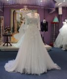 A Line/Empire Tulle Long Sleeve Wedding Dress