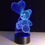 3D Illusion Night Light for Kids Room