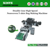 Double Line High Speed Nonwoven T-Shirt Bag Making Machine