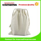 Natural Color Linen Drawstring Pouch with Cotton String