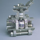 Stainless Steel 3 Piece Floating Ball Valve
