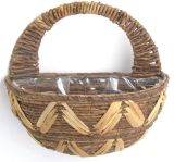 Banana Leaf & Water Hyacinth Wall Basket