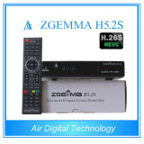 Twin Tuner DVB-S/S2 Linux HD PVR Ready Satellite Receiver with Hevc / H. 265 Zgemma H5.2s