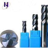 Tungsten Solid Carbide 4 Flutes Square End Mill HRC45 with Altin Coating