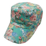 Fashion Army Cap with Floral Fabric Mt10