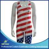 Custom Made High Quality Sublimation Premium Compression Wrestling Suit