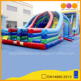 Inflatable X-Lane Obstacle Course for Amusement Park