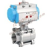 Stainaless-Acero Pneumatic-3-PC-Ball-Valve