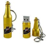Keyring USB Flash Disk Metal Beer Bottle USB Stick