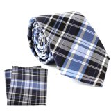 100% Silk Woven Luxury Custom Made Gift Tie Hanky Sets