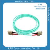 Sc-Sc Multimode 50/125 Om3 Aqua Duplex Fiber Optic Cable/Patchcord
