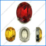 10*14mm Light Siam Oval Fancy Stone Back Mini Glass Crystals Jewelry Accessory Dz3002