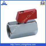 Female Female Chromed Plated Forged Brass Air Mini Ball Valve (YD-1036)