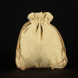Promotional Jute Drawsrting Gift Packing Burlap Pouches (CJB1033)