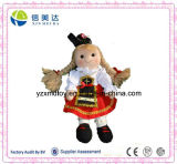 Plush Soft National Costume Girl Doll Rag Doll Toy