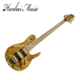 Hanhai Music / Electric Bass Guitar with Neck-Thru-Body