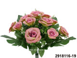 Artificial/Plastic/Silk Flower Rose Bush (2918116-19)