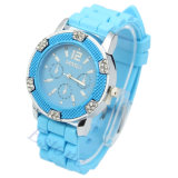 Light blue Color Silicone Jelly Watch with Competitive Price