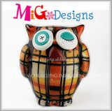 Boy Ceramic Green Owl Decor Wholesale Animal Coin Bank
