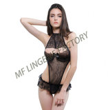 Open Chest Teddy Open Piece There-Point Lingerie for Women