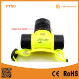 FT50 Ipx8 Waterproof Plastic Underwater LED Diving Torch