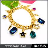Luxury Noble Dubai Gold Jewelry Crystal Gold Bracelet #31484