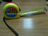 Red Yellow ABS Case Measure Tape with Black Point Brake