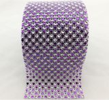 Wedding Party Decoration Silver Rhinestone Diamond Mesh Wrap Rhinestone Ribbon