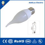 Warm White 220V Dimmable SMD 3W E27 LED Candle Light
