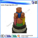 4 Cores XLPE Insulation PVC Sheath Swa Electrical Power Cable