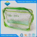 Custom Transparent Plastic Sewing Zipper Clear PVC Cosmetic Bag
