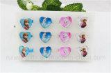 Fashion Heart Shape Glass Frozen Rings for Kids Ring Jewelry