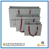 White Color Fashion Customized Paper Packaging Bag (GJ-Bag413)