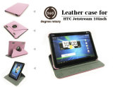 360 Degree Rotary Leather Case for HTC Tablet Rotating Stand Book Cover (HL-02)