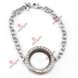Silver Round Locket Bracelet Jewellry for Festival Decoration (LB-102)