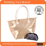 Promotional Fashion Fabric Lady Tote Bag with Wallet Bag
