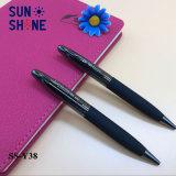 Best Selling Metal Twist Ball Pen Heavy Black Adhesive Spraying Pen