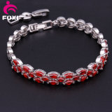Latest Fashion White Gold Plated Gemstone Bracelets and Bangles