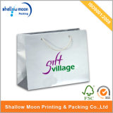 Luxury White Paper Bag with Glossy Lamination (QY150274)