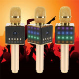 H8 Karaoke Microphone Bluetooth Wireless Microphone with Colorful LED Light