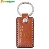 Promotional Blank Leather Keychain with Metal