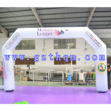 a White Oxford Inflatable Arch/Print Inflatable Arch