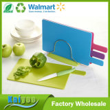 Custom Color Coding Plastic Silicone Chopping Board Set